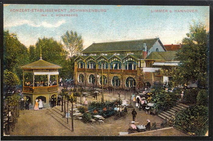 """Konzert Etablissement """"Schwanenburg"""" 1914 (Quelle: Sammlung Jürgen Wessel)"""